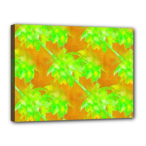 Coconut Palm Trees Caribbean Vibe Canvas 16  X 12  by CrypticFragmentsColors