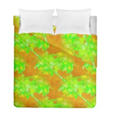 Coconut Palm Trees Caribbean Vibe Duvet Cover Double Side (full/ Double Size)