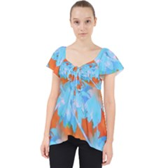 Coconut Palm Trees Tropical Dawn Lace Front Dolly Top