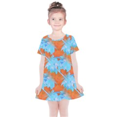 Coconut Palm Trees Tropical Dawn Kids  Simple Cotton Dress