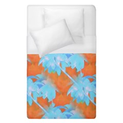 Coconut Palm Trees Tropical Dawn Duvet Cover (single Size) by CrypticFragmentsColors