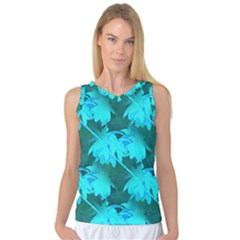 Coconut Palm Trees Caribbean Sea Women s Basketball Tank Top by CrypticFragmentsColors