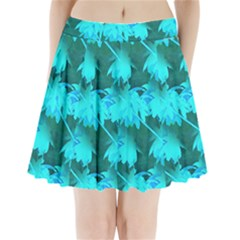 Coconut Palm Trees Caribbean Sea Pleated Mini Skirt by CrypticFragmentsColors