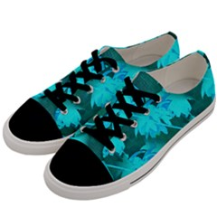 Coconut Palm Trees Caribbean Sea Men s Low Top Canvas Sneakers by CrypticFragmentsColors