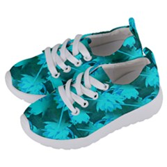 Coconut Palm Trees Caribbean Sea Kids  Lightweight Sports Shoes by CrypticFragmentsColors