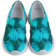 Coconut Palm Trees Caribbean Sea Kid s Lightweight Slip Ons by CrypticFragmentsColors