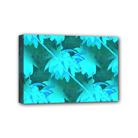 Coconut Palm Trees Caribbean Sea Mini Canvas 6  X 4  by CrypticFragmentsColors