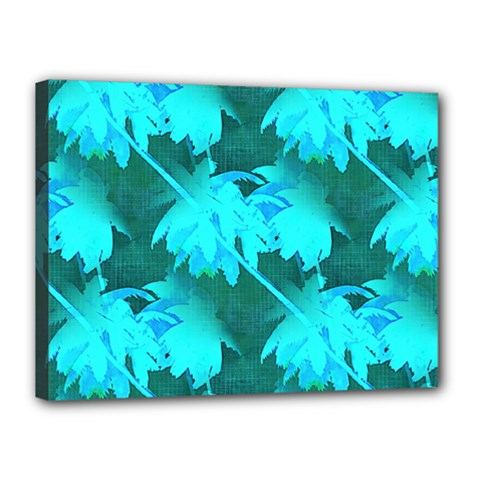 Coconut Palm Trees Caribbean Sea Canvas 16  X 12  by CrypticFragmentsColors