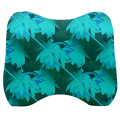 Coconut Palm Trees Caribbean Sea Velour Head Support Cushion by CrypticFragmentsColors