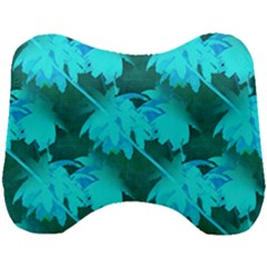 Coconut Palm Trees Caribbean Sea Head Support Cushion by CrypticFragmentsColors