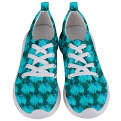 Coconut Palm Trees Blue Green Sea Small Print Women s Lightweight Sports Shoes