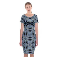 Oriental Ornate Pattern Classic Short Sleeve Midi Dress by dflcprints