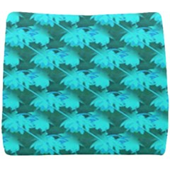 Coconut Palm Trees Blue Green Sea Small Print Seat Cushion by CrypticFragmentsColors
