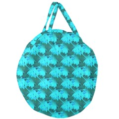Coconut Palm Trees Blue Green Sea Small Print Giant Round Zipper Tote by CrypticFragmentsColors