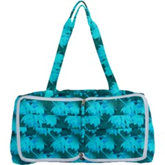 Coconut Palm Trees Blue Green Sea Small Print Multi Function Bag	 by CrypticFragmentsColors