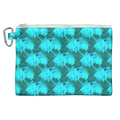 Coconut Palm Trees Blue Green Sea Small Print Canvas Cosmetic Bag (xl) by CrypticFragmentsColors