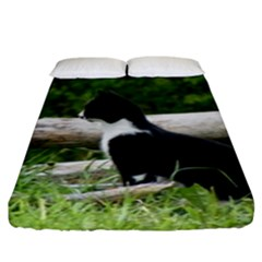 Farm Cat Fitted Sheet (king Size) by IIPhotographyAndDesigns