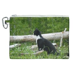 Farm Cat Canvas Cosmetic Bag (xl) by IIPhotographyAndDesigns