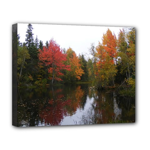 Autumn Pond Deluxe Canvas 20  X 16   by IIPhotographyAndDesigns