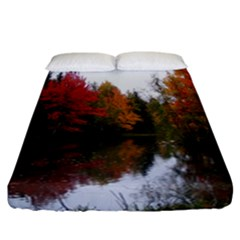 Autumn Pond Fitted Sheet (california King Size) by IIPhotographyAndDesigns