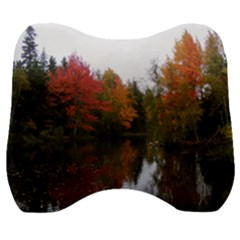 Autumn Pond Velour Head Support Cushion by IIPhotographyAndDesigns