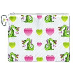 Dragons And Hearts Canvas Cosmetic Bag (xxl) by IIPhotographyAndDesigns