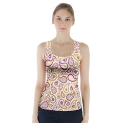 Damascus Image Purple Background Racer Back Sports Top