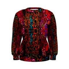 Retro Multi Colors Pattern Created By Flipstylez Designs Women s Sweatshirt