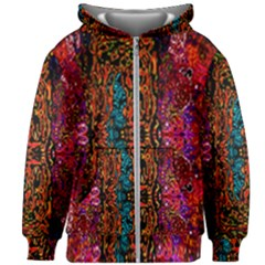 Retro Multi Colors Pattern Created By Flipstylez Designs Kids Zipper Hoodie Without Drawstring