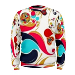 Retro Colorful Colors Splashes Men s Sweatshirt