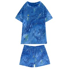 Star Fall Kids  Swim Tee And Shorts Set