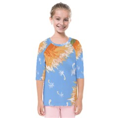Floating Wishes Kids  Quarter Sleeve Raglan Tee