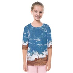 Oceantide New Kids  Quarter Sleeve Raglan Tee