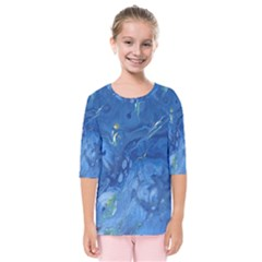Star Fall Kids  Quarter Sleeve Raglan Tee