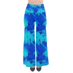 Coconut Palm Trees Ocean Blue So Vintage Palazzo Pants by CrypticFragmentsColors