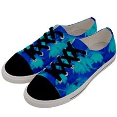 Coconut Palm Trees Ocean Blue Men s Low Top Canvas Sneakers by CrypticFragmentsColors