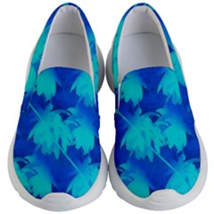 Coconut Palm Trees Ocean Blue Kid s Lightweight Slip Ons by CrypticFragmentsColors