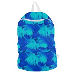 Coconut Palm Trees Ocean Blue Foldable Lightweight Backpack by CrypticFragmentsColors