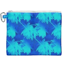 Coconut Palm Trees Ocean Blue Canvas Cosmetic Bag (xxxl) by CrypticFragmentsColors