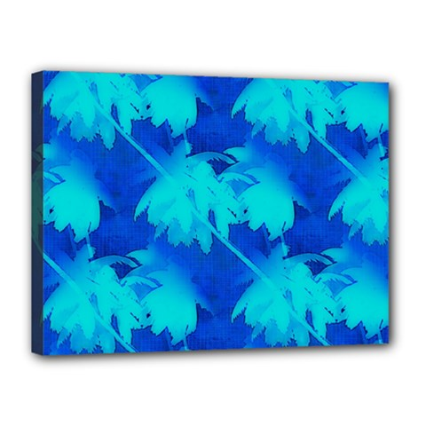 Coconut Palm Trees Ocean Blue Canvas 16  X 12  by CrypticFragmentsColors