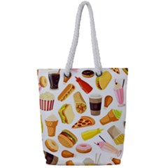 53356631 L Full Print Rope Handle Tote (small) by caloriefreedresses