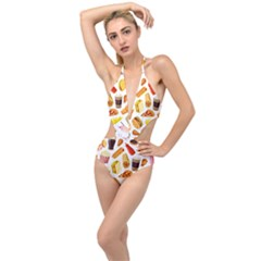 53356631 L Plunging Cut Out Swimsuit by caloriefreedresses