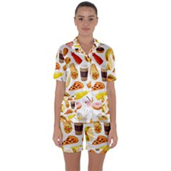 53356631 L Satin Short Sleeve Pyjamas Set