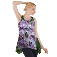 Lilac Bumble Bee Side Drop Tank Tunic by IIPhotographyAndDesigns