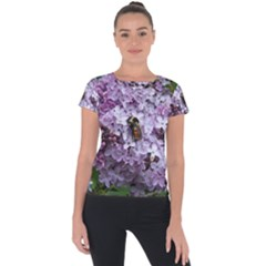 Lilac Bumble Bee Short Sleeve Sports Top