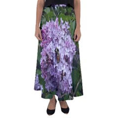 Lilac Bumble Bee Flared Maxi Skirt