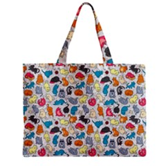 Funny Cute Colorful Cats Pattern Mini Tote Bag by EDDArt