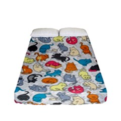 Funny Cute Colorful Cats Pattern Fitted Sheet (full/ Double Size)