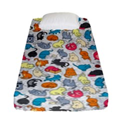 Funny Cute Colorful Cats Pattern Fitted Sheet (single Size) by EDDArt