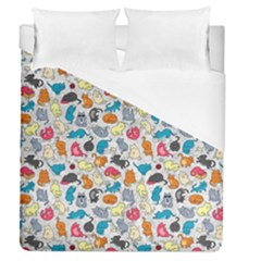 Funny Cute Colorful Cats Pattern Duvet Cover (queen Size)